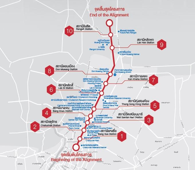 เส้นทางรถไฟฟ้าสายสีแดงเข้ม